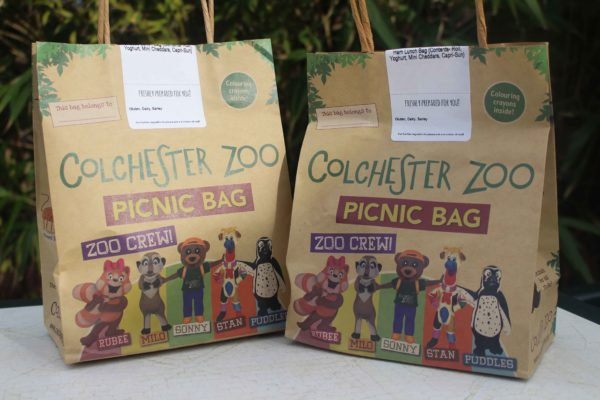 Brown paper Colchester Zoo lunch bags