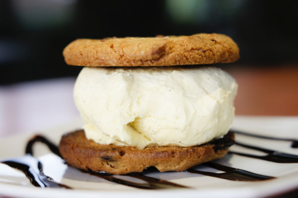 Cookie and ice cream sandwich