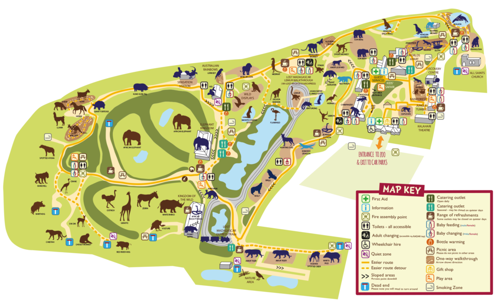 Colchester Zoo Map