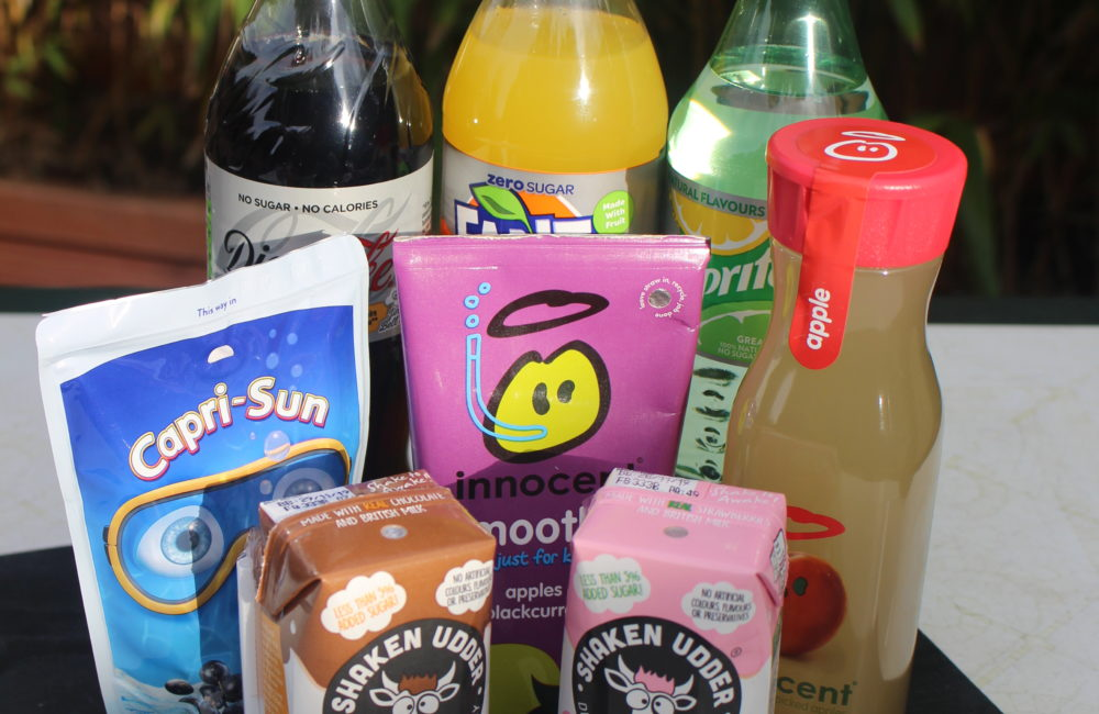Selection of soft drinks